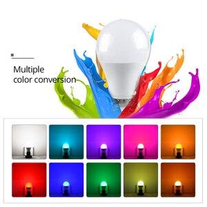 Image 3 - RGB LED הנורה אור E27 GU10 5W 10W 15W Dimmable מנורת ססגוניות משתנה + IR שלט רחוק RGB Lampada מקורה תאורת מנורה