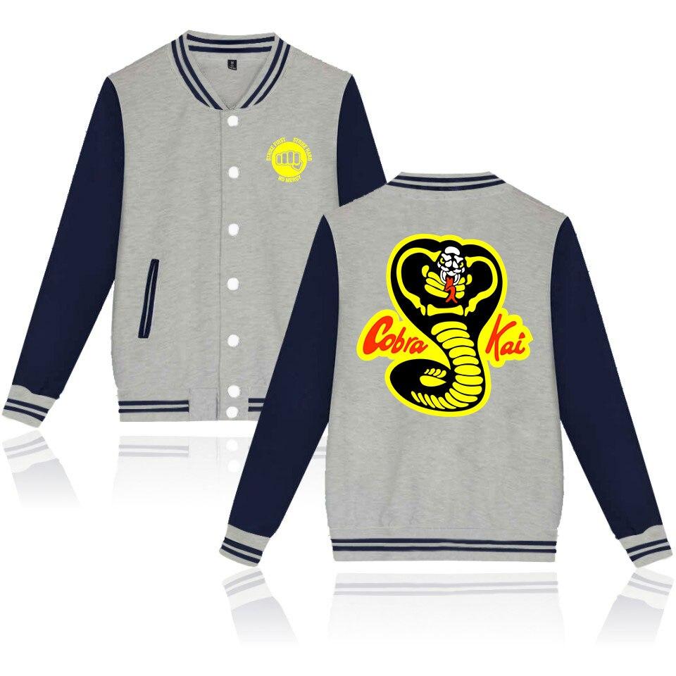 Cobra Kai Snake Logo No Mercy Mens Varsity Jacket