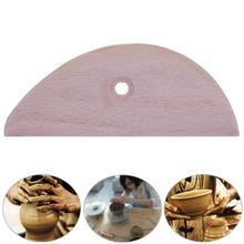 1pc Wood Slices Scraping Sculpture Clay Tools Engraved Clay Pottery DIY Ceramics Tools Accessories