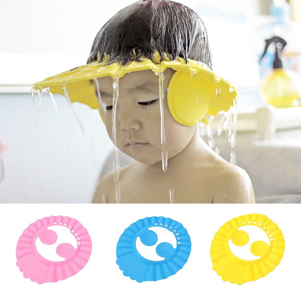 Adjustable Child Bathing Cap Bath Visor Children Shampoo Bath Shower Cap Shampooing For Kids Head To Baby Shower Hat