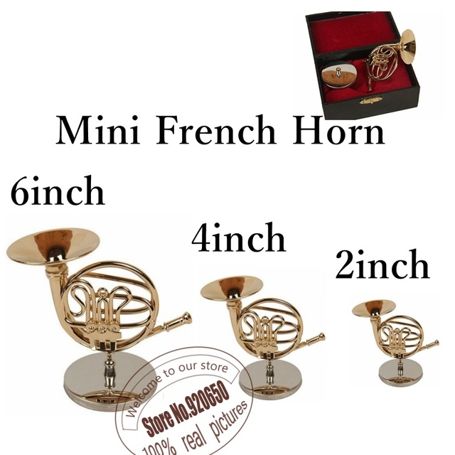 Miniatur Skala Instrument Mini Französisch Horn Kunstwerk Luxus Geschenk  Für Dekoration Und Display