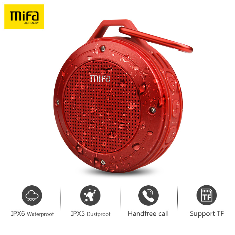 MIFA Wirless Bluetooth Luidspreker Ingebouwde microfoon Bluetooth Stereo IXP6 Water-proof Outdoor Speaker Met Bass Mini Draagbare Speaker
