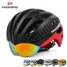 PROMEND Cycling Goggles Helmet Ultralight Integrally molded Bicycle Helmet 3 Lens MTB Bike Helmet 27 Vents