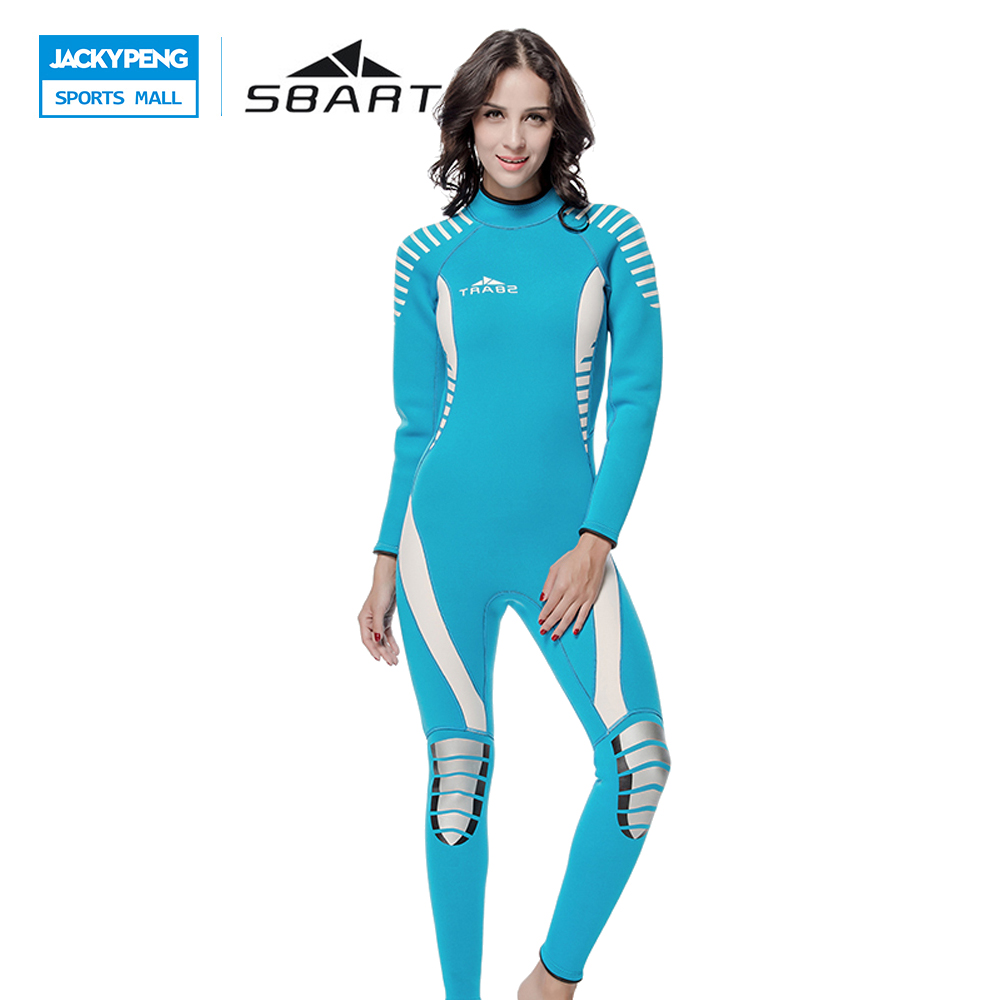 SBART Combinaison Neoprene 3mm Women Diving Neoprene Triathlon Scuba Diving Suit Spearfishing Swimsuit Full Body Jumpsuit sbart upf50 806 xuancai