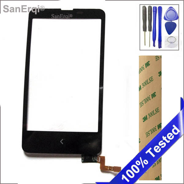 SanErqi Tested Touch Screen for Nokia Lumia x Dual SIM A110 RM-980 touch screen front glass lens panel  digitizer
