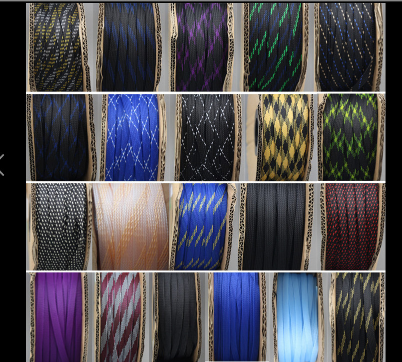5M High Quality Suspension Network Acoustics Wire Protection Network Snake Skin Mesh Wire Diameter 12-22mm Cables Guard