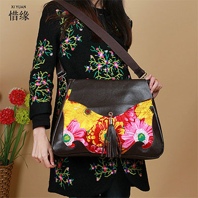 XIYUAN BRAND BIG Autumn Fashion national vintage floral lady Embroidery Shoulder Bag New Women Messenger Bag Hot Sale HAND Bags greenell гори 4 green