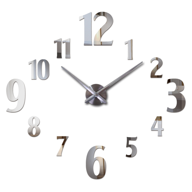 new fashion wall clock modern quartz watch clocks living room acrylic mirror clocks home decoration still life diy stickers