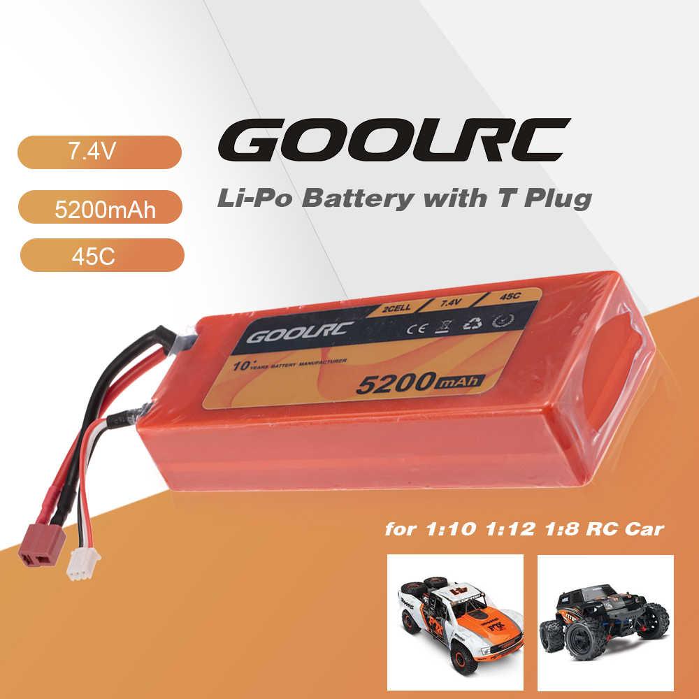 Goolrc RC автомобиль 2 S 7,4 V 5200 мА/ч, 45C Li-Po Батарея с t-образной вилкой для 1:10 1:12 1:8 Traxxas HSP RC автомобилей Грузовик Buggy Crawler