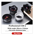 Professional 4K portrait lens increase HD Cellphone Filter Camera lensesFor iPhone X XS Max Xr iPad Huawei Xiaomi Samsung Lentes