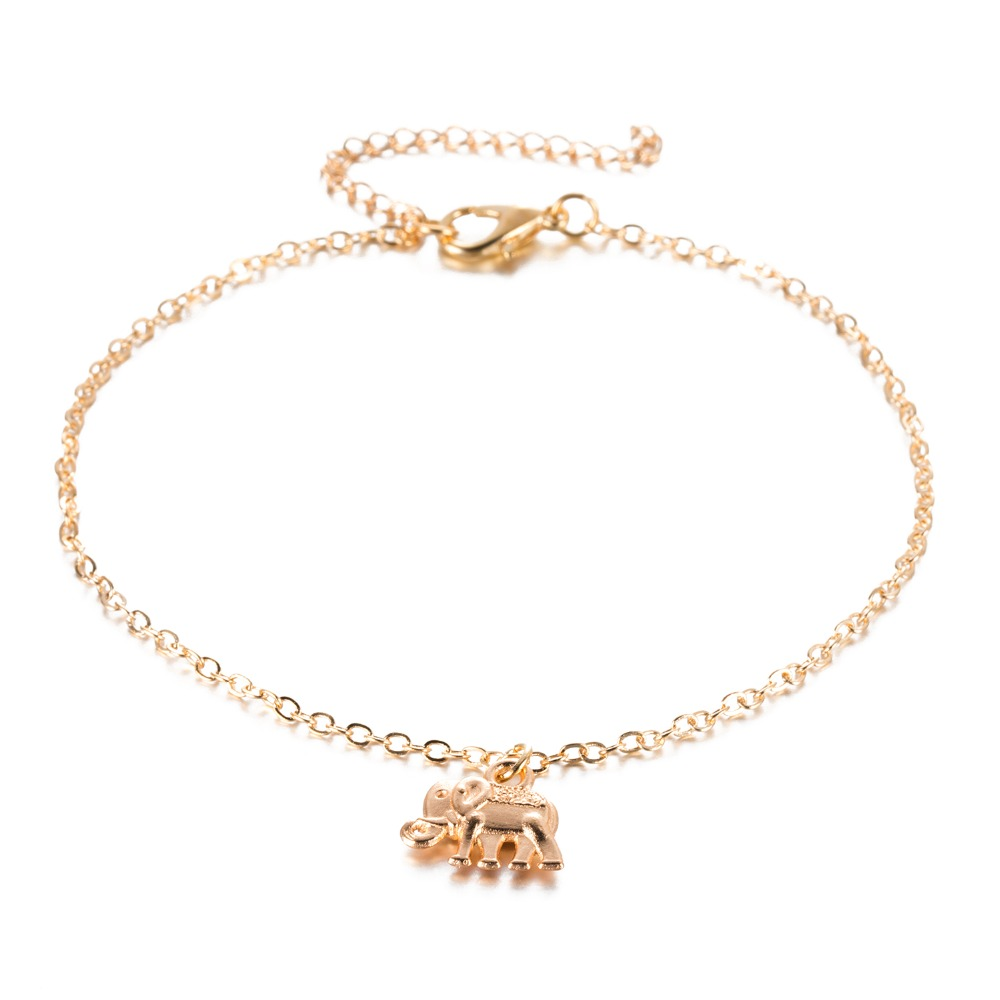 Foot Chain Plated Hollow Elephant