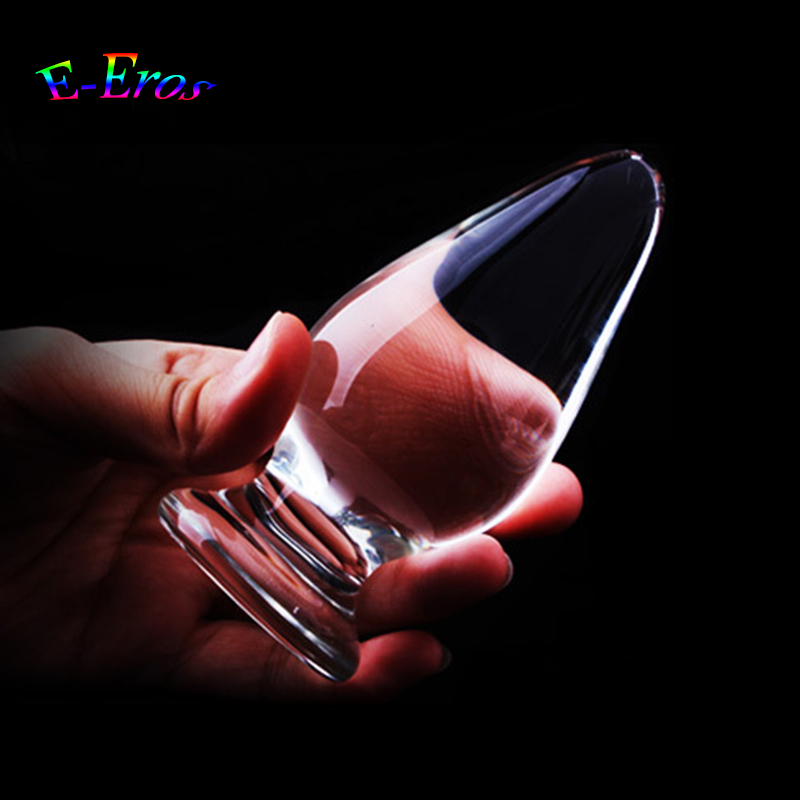 ORISSI 107x45mm Glass Anal Plug Big Butt Plug Masturbation Stimulator Crystal Anal Dildo Female Sex Toys Adult Sex Products