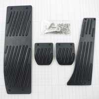 For BMW M3 M5 E30 E32 E34 E36 E38 E39 E46 E87 E90 E91 X5 X3 Z3 Accelerator Gas Brake Antiskid AT/MT Pedals Pad, Foot Rest Covers