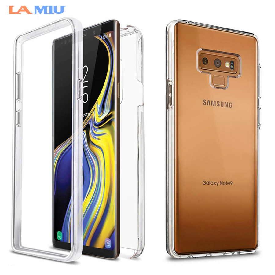 super popular dbcee ae27c LA MIU For Samsung Galaxy Note 9 Case S8 S9 Plus Note 8 Front+Back Case 360  Degree Full Body Two Crystal TPU Case
