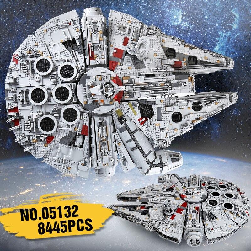 Lepin 05132 set star destroyer millennium falcon compatibile con LegoINGlys 75192 mattoni kit di costruzione di blocchi di regali di compleanno