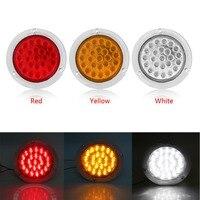 1 Pair LED Side Lamp 24LED Side Lights Tail Light Lamp For Car Trailer Truck Caravan