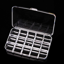 15 Grids Detachable Plastic Storage Box Nail Art Powder Paillette Rhinestone Empty Storage Case Container