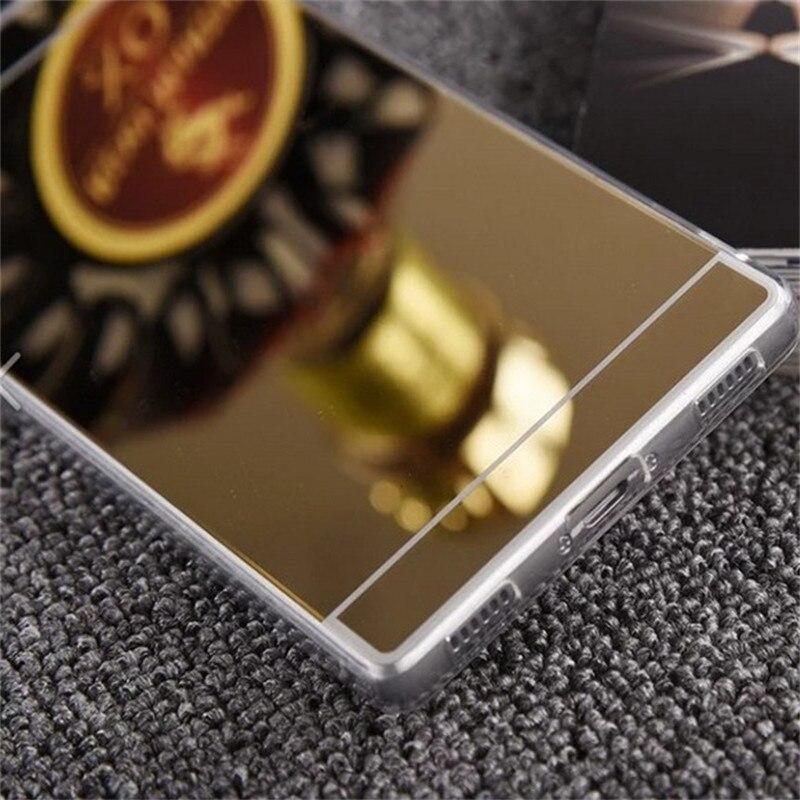 Espejo de lujo soft case para huawei p8 lite case tpu moda marco cubierta para huawei ascend p8 p9 lite plus teléfono ultra delgado case