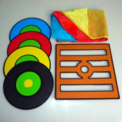 ФОТО Free shipping Japanese changeable records (PVC frame + CD version) magic tricks magic props