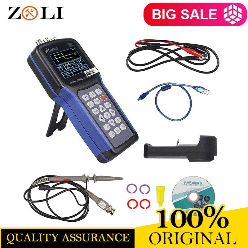 Jinhan JDS2023 osciloscopio portátil de 1 canales de 20 MHz osciloscopio JDS2023 200MSa/s 16 cierto color en STOCK ahora