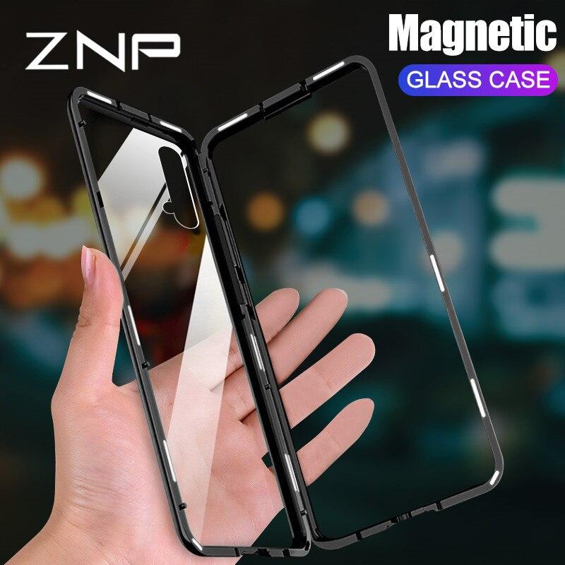 Magnetic Adsorption Metal Case For Huawei Honor 20 V10 Lite 9i honor play 10 Magnet Cover For Nova 4 3i 2i 4e 3e Y7 Y6 Prime Y9