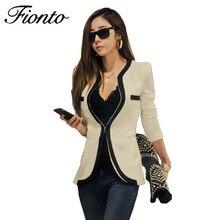 Ladies Blazer Feminino Plus Size Formal Slim Splice Jacket Women's White Blaser Female Women Suit Office Ladies 2018 New F2588