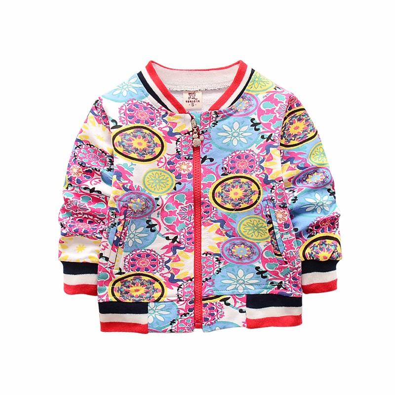 New Baby Coats Print Boys Girls Jackets Spring Autumn V Neck Cardigan Coat Fashion Infant Cotton Coat 7-24 Months Baby Clothing (3)