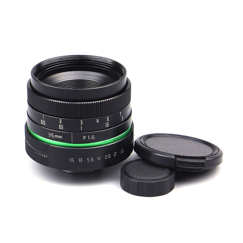 35mm F/1.6 C-Mount Lens for APS-C sensor Sony E NEX-7 NEX6 NEX5T/5R/3 A5100 A6000 A5000 A3000 A6300 A6500 wide angle 35mm 35 f1 7 manual lens for sony nex3n nex5t nex6 nex7 nex f3 nex c3 a3000 a5000 a5100 a6000 camera silver