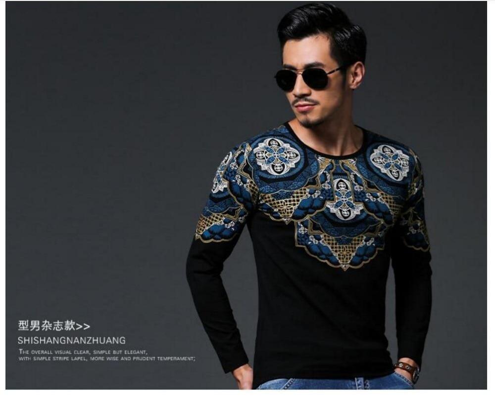 T shirt japanese design - Autumn And Winter Hot Sale Japanese Designer Men Cotton Shirt T Shirt Slim Top Tees Long Design