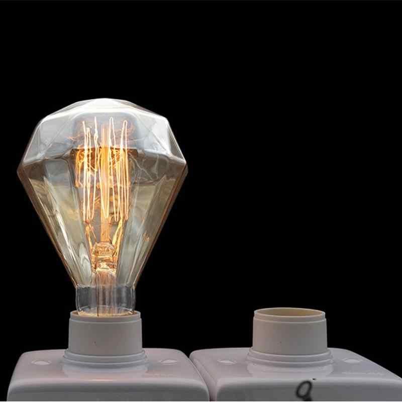 SOLLED Ретро Винтаж лампы Эдисон лампочка G95 Diamond E27 40 Вт 220-240 В накаливания свет лампы накаливания Вольфрам углерода лампы
