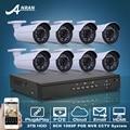 Plug And Play POE 8CH NVR Sistema de CCTV 3 TB HDD 1080 P POE HD H.264 25fps IR de Vigilância de Segurança IP Câmera de Alarme de E-mail