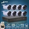 Plug And Play POE CCTV Sistema 8CH NVR 3 TB HDD 1080 P POE HD H.264 25fps IR Cámara IP de Vigilancia de Seguridad de Correo Electrónico de Alarma
