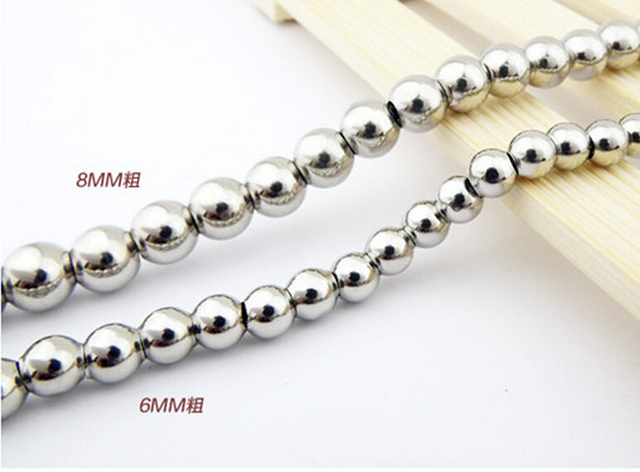 jewelry stainless necklace steel supplies ball chain inch neck
