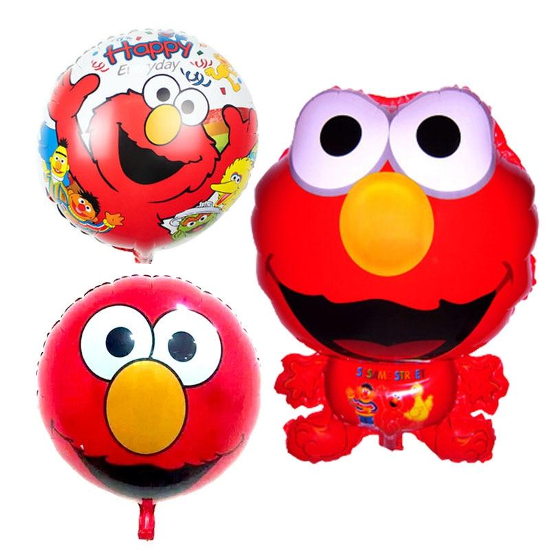 3pcs/lot Elmo globos Sesame Street foil balloons air balls happy birthday Balloo