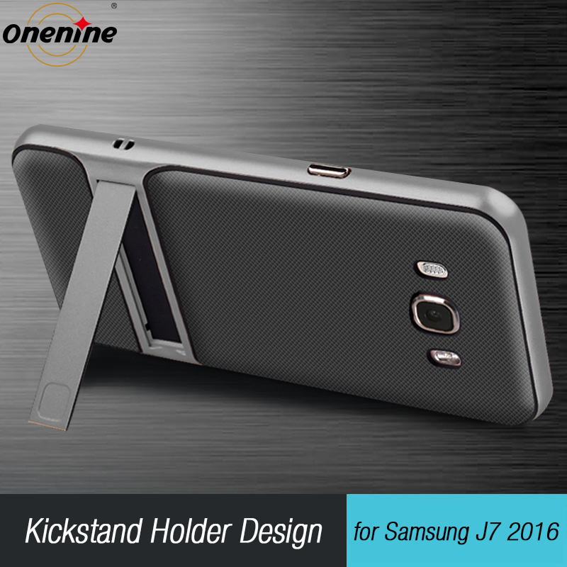 """3D Kickstand mobilfodral för Samsung Galaxy J7 2016 silikonskydd 5.5 """"TPU PC Hybridtelefon tillbaka pansarväska SamsungJ7 J710 J7 LTE"""