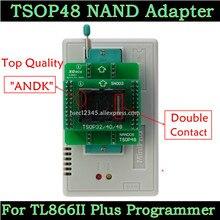 Adaptador andk tsop48 nand, adaptador para xgecu minipro tl866ii plus programador tsop48 tl866 nand flash chips tsop48