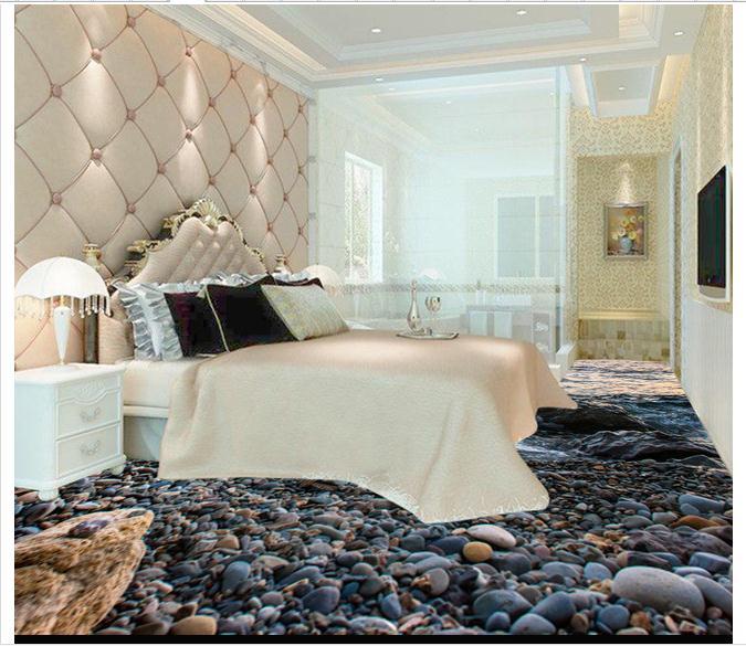 d wallpaper d pvc suelo pintar murales d realista agua azulejo de piso de piedra