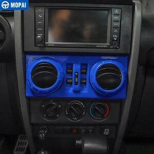 Image 3 - Mopai carro de navegação central ar condicionado decoração kit capa adesivos acessórios para jeep wrangler jk 2007 2008 2009 2010
