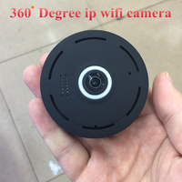 SHRXY Black 360 Degree Panoramic Smart IPC Wireless Fisheye Mini IP Camera Two Way Audio P2P