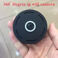 SHRXY Black 360 Degree Panoramic Smart IPC Wireless Fisheye Mini IP Camera Two Way Audio P2P