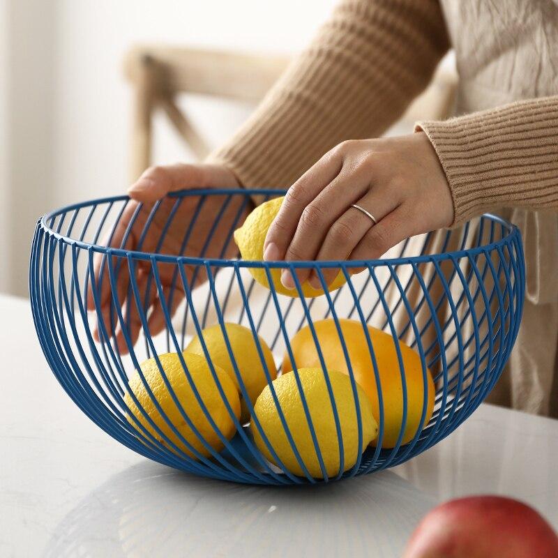 Nordic Modern Design Metal Fruit Basket Storage rack Vegetable Fruit Snack Organizer Rack Table Bowl Dining Room Decoration