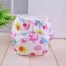 10Pcs/ Lot Baby Cotton Leak Proof Cloth Diapers Reusable Diaper Washable Diapers Waterproof Pants Adjustable Size S/M/L