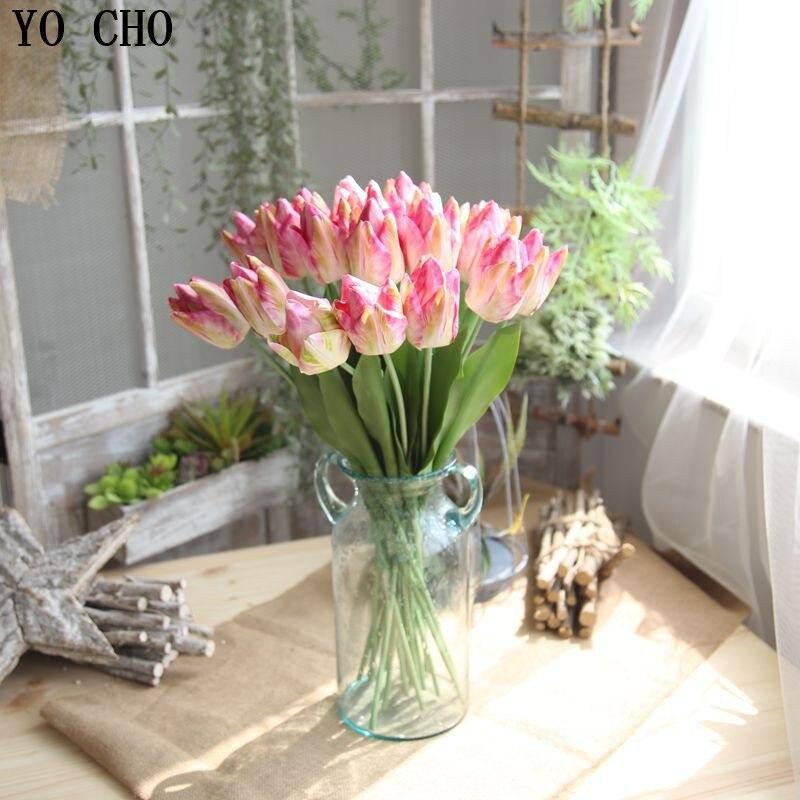 Yo Cho Home Decoration Accessories Artificial Latex Tulip Flower