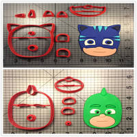 Two Character Of Masks Custom Made 3D Printed Cookie Cutter Set Cake Decorating Tools