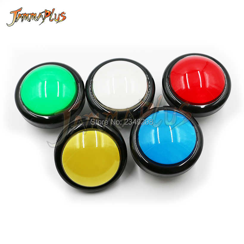 1PCS 100mm Convex Round Push Button Arcade Button Switch Illuminated Buttons 12V LED Lamp