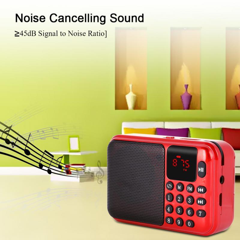 Unterhaltungselektronik Noise Cancelling Mini Fm Radio Lautsprecher Musik Player Fm 87,5-108 Mhz Tf Karte Usb Für Mit Led-anzeige Profitieren Sie Klein