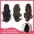 1PC Ponytail Extenson Curly Pony Tail Hear Resistant 125g Natural Synthetic Claw In Ponytails Wavy Hair Accessories P004