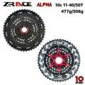 Zracing Alpha 10 скоростная легкая кассета 10 скоростной MTB велосипед freewheel 11-46 T/50 T-черный
