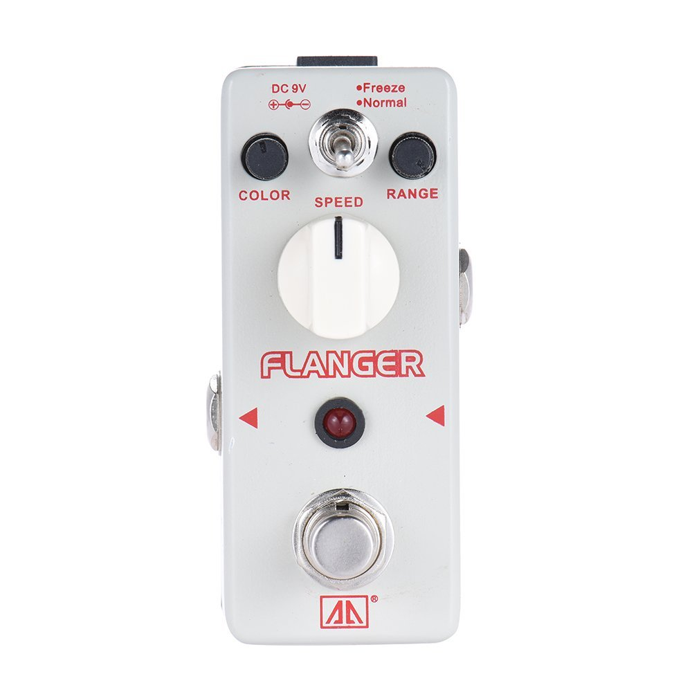 AROMA ATR-5 Guitar Effect Pedal Classic Analog Flanger Guitar Effect Pedal 2 Modes Aluminum Alloy Body True Bypass aroma adl 1 aluminum alloy housing true bypass delay electric guitar effect pedal for guitarists hot guitar accessories