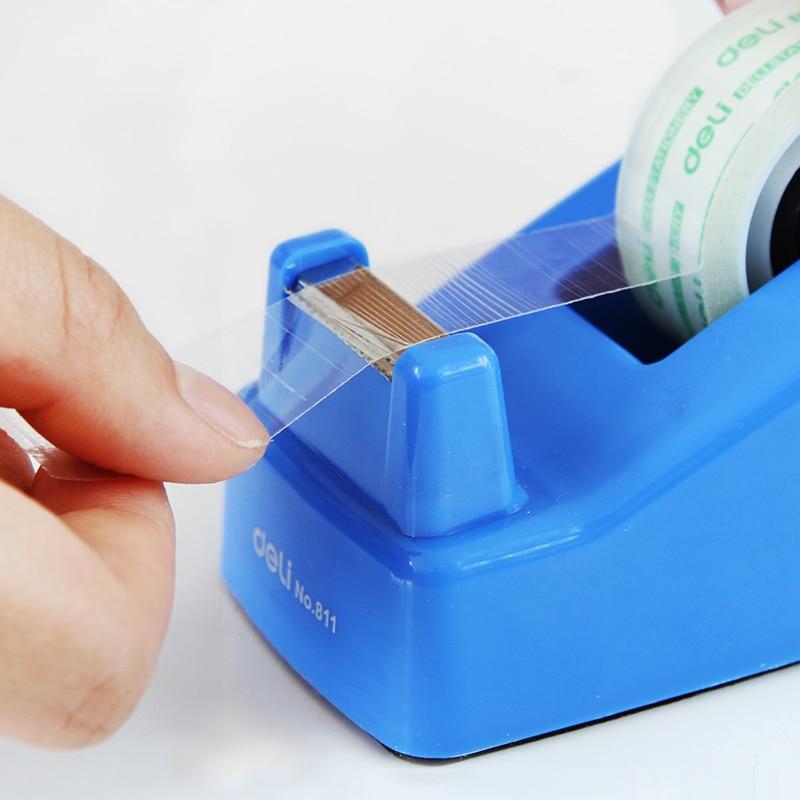 1 Pc Tape Dispenser Small Size For Adhesive Tape Width Less Than 18mm Easy To Use Deli 811 комплектующие для стиральных машин 02 100